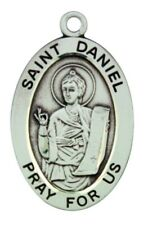 "Sterling Silver Saint Daniel Oval Medal, 20"" Chain"