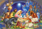Baby in a Manger 100 pcs Jigsaw Puzzle