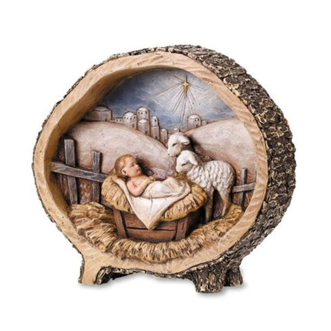 "8.5"" Baby Jesus with Lamb Statue"