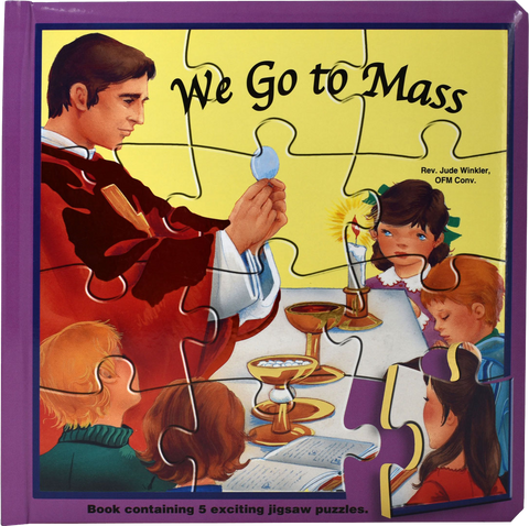 We Go to Mass, Puzzle Book, by Rev. Jude Winkler, OFM