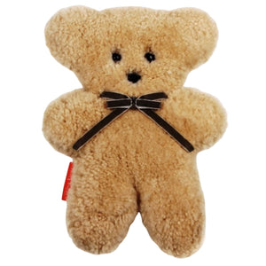 Australian Sheepskin Flat Cuddle Bear in Honey