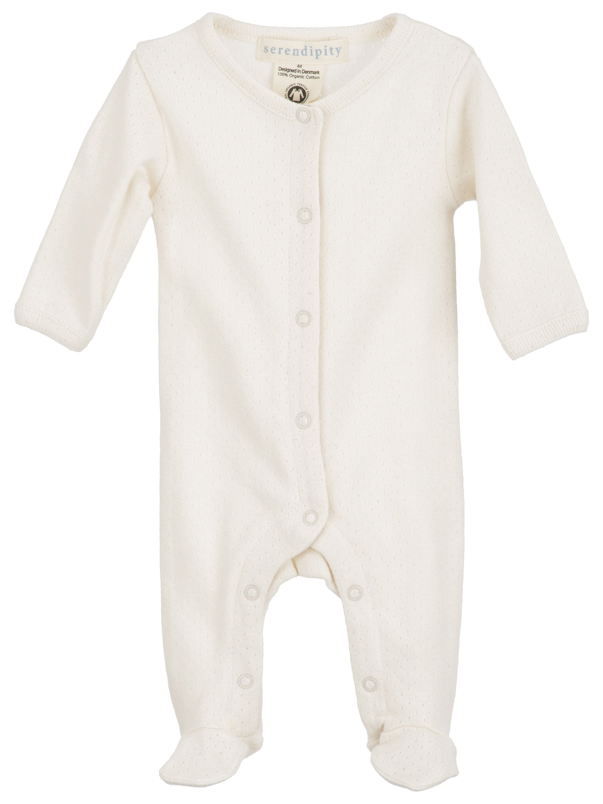 Cotton Pointelle Rib Newborn Coverall