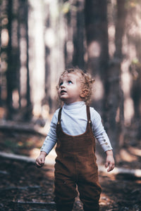 Tom Boy Cords Overalls in Saddle