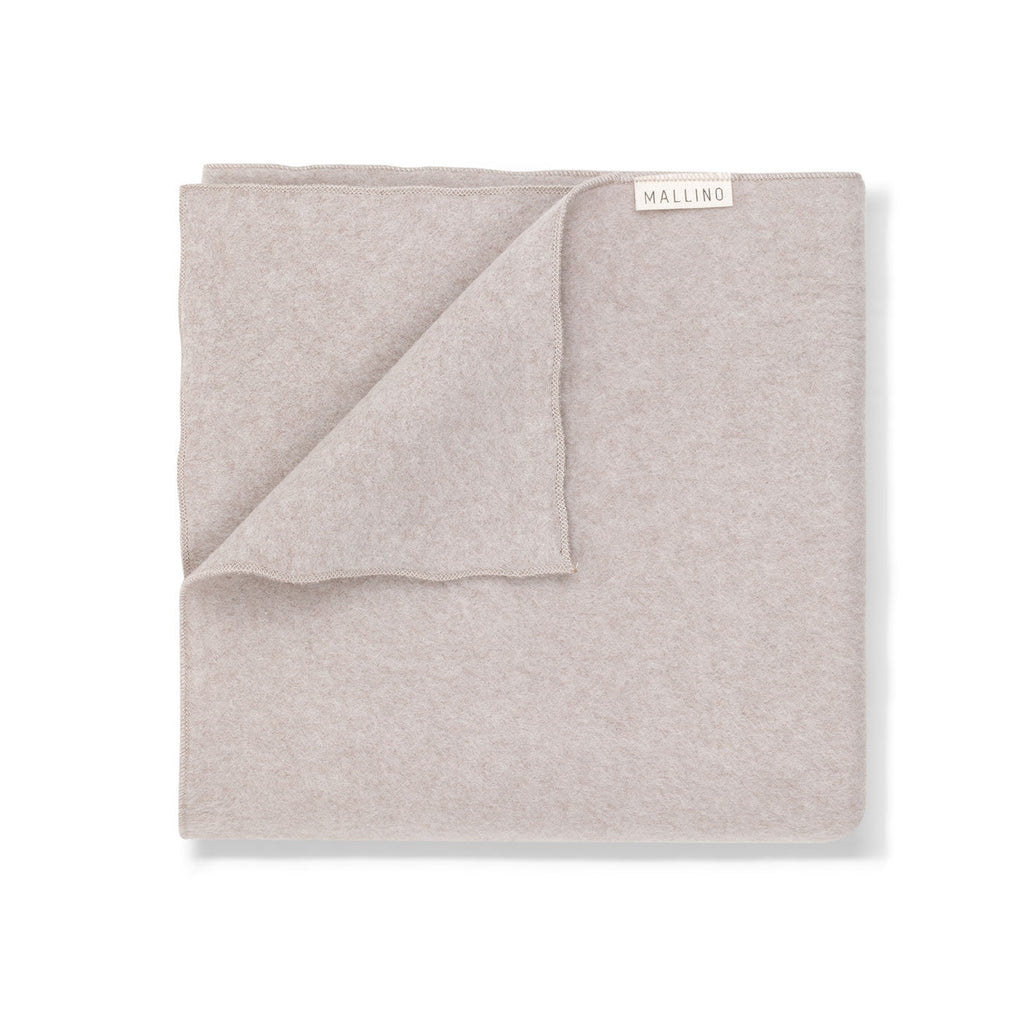 Brushed Organic Cotton Blanket - Taupe