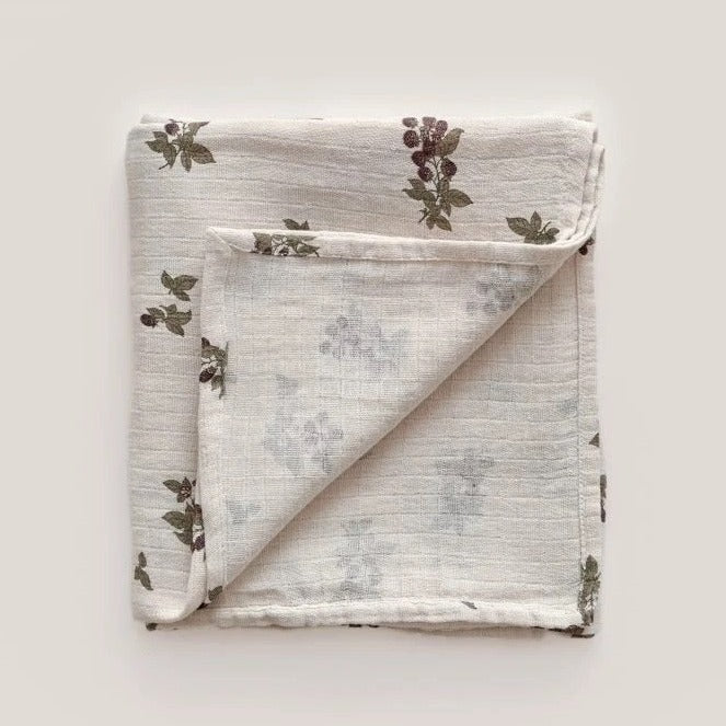 Blackberry Muslin Swaddle