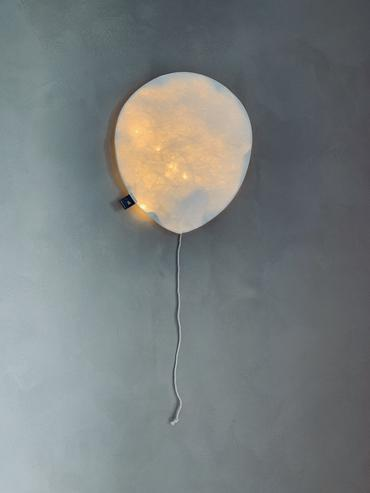White Lighting Balloon - Large