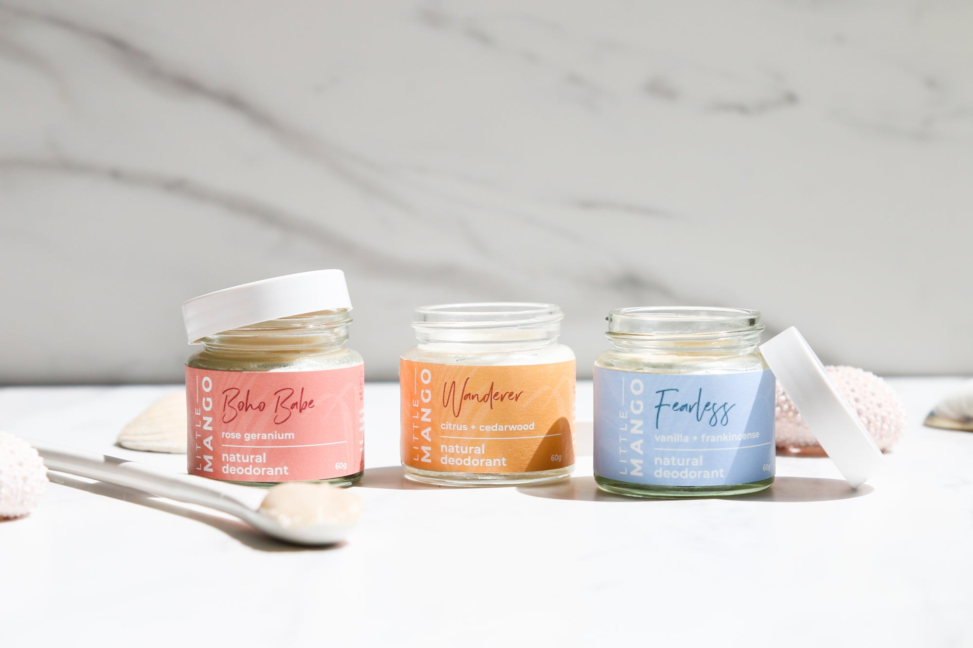 A fresh new look for Little Mango natural deodorants
