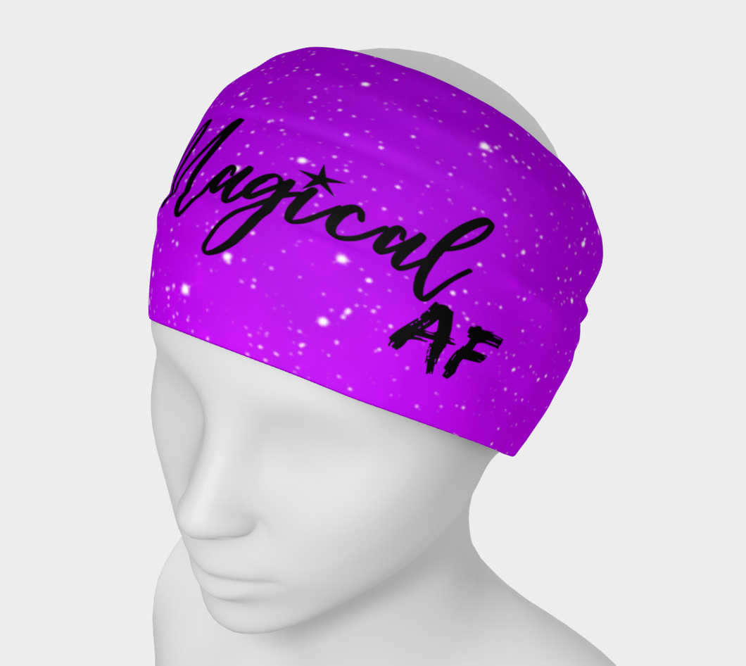 Magical AF Headband/ scarf - purple