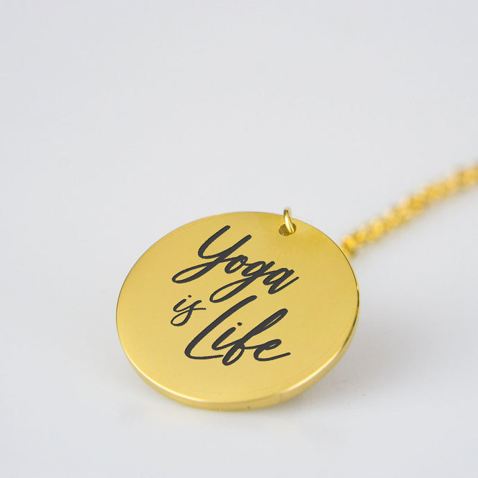 Yoga is life necklace