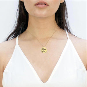 Peace & Love Affirmation Necklace