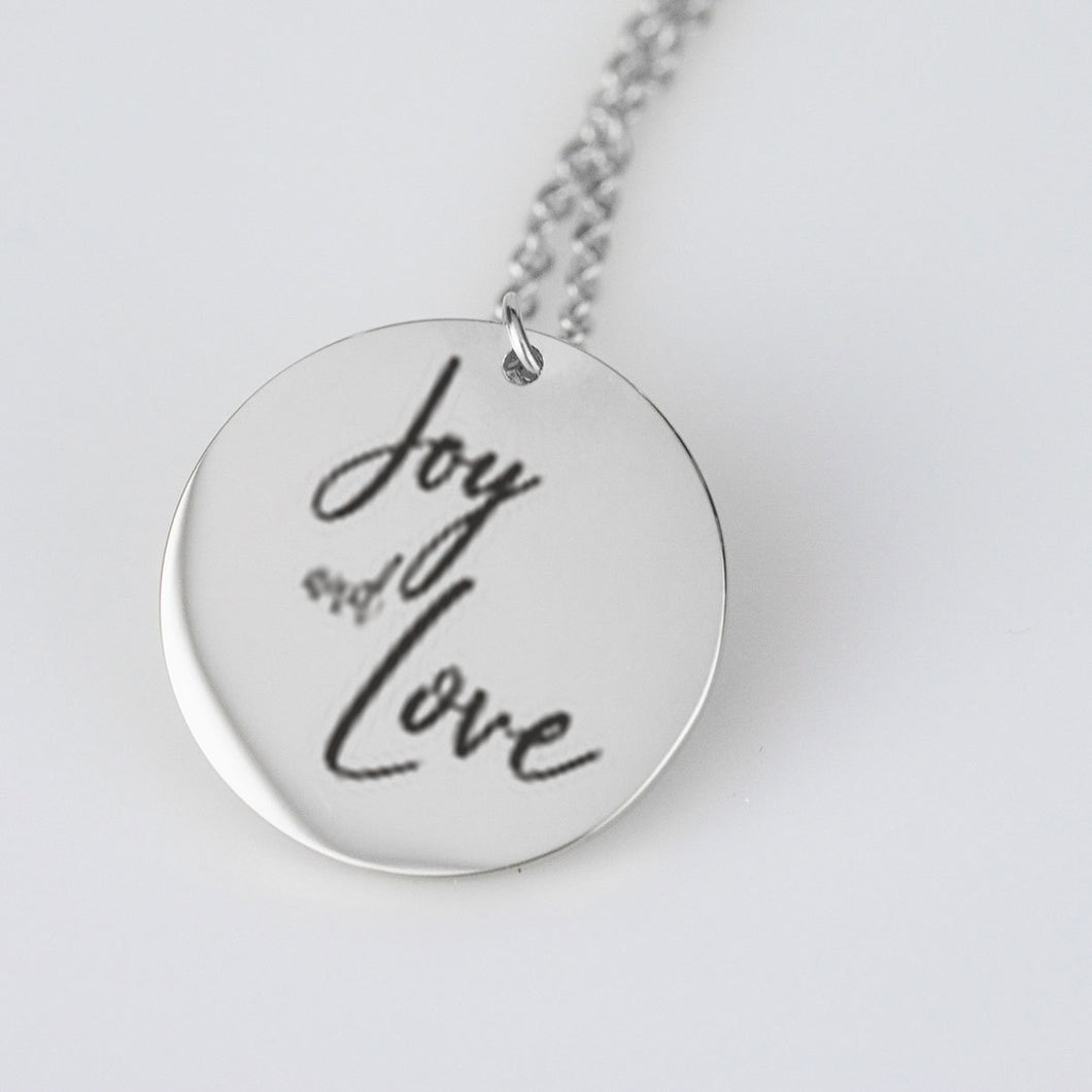 Joy and Love necklace