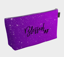 Blessed AF Make Up Bag- Purple