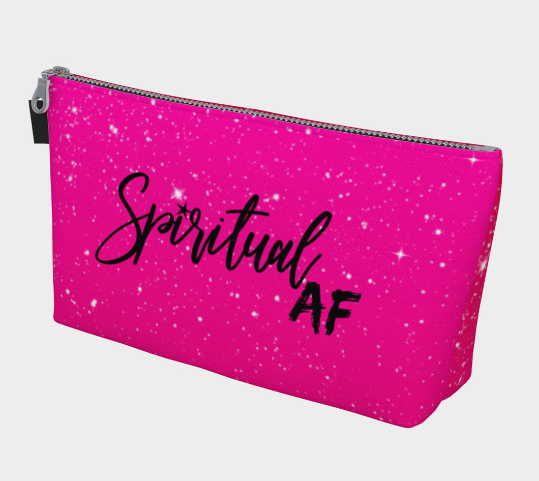 Spiritual AF make up bag