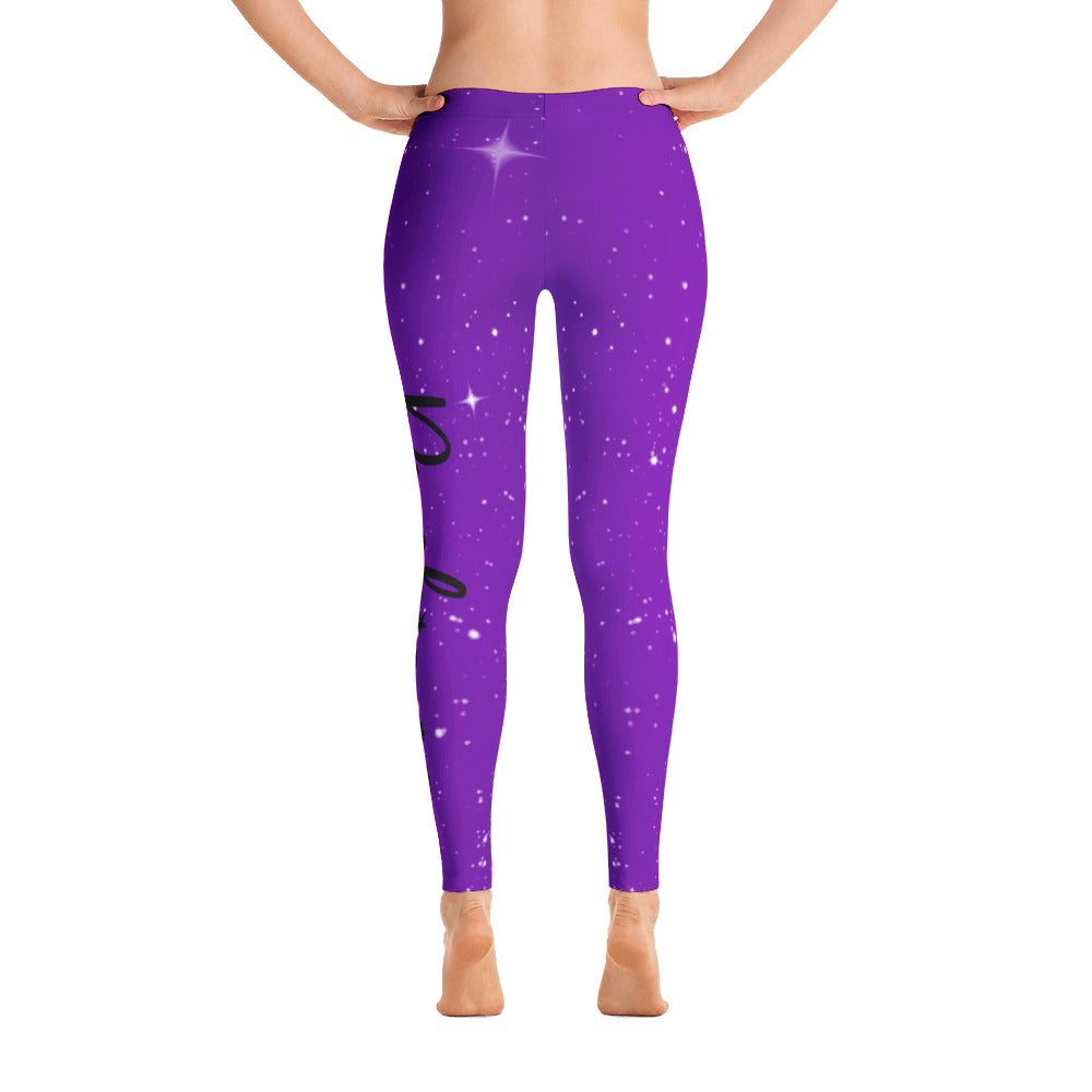 Psychic AF Galaxy Leggings - Purple