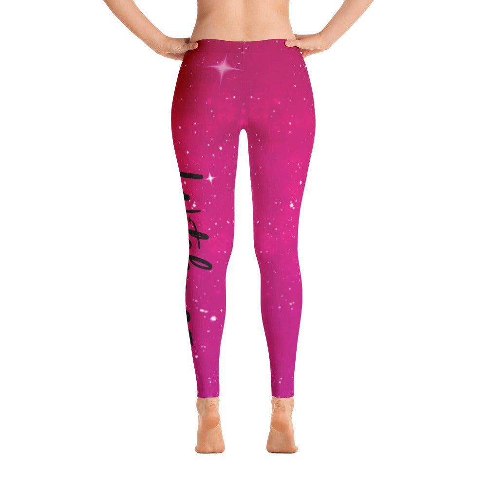 Witchy AF Galaxy Leggings - Pink/Red