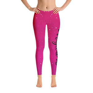 Magical AF Galaxy Leggings - Pink/Red