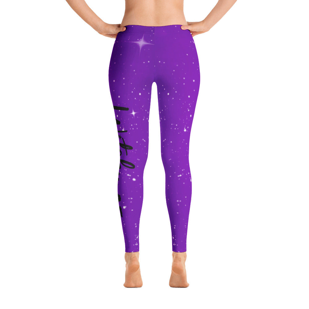 Witchy AF Galaxy Leggings - Purple