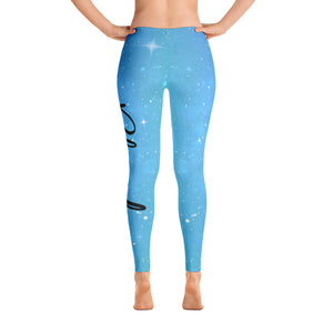Blessed AF Galaxy Leggings - Blue