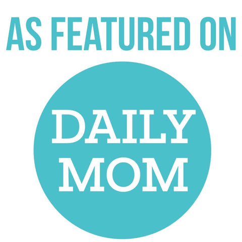 Badge that reads As Featured On Daily Mom