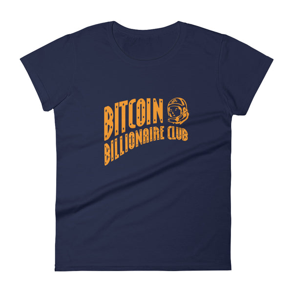 Bitcoin Billionaire Gold Club Womens Tee