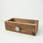 Barn Wood Box with Painted Wood Knob