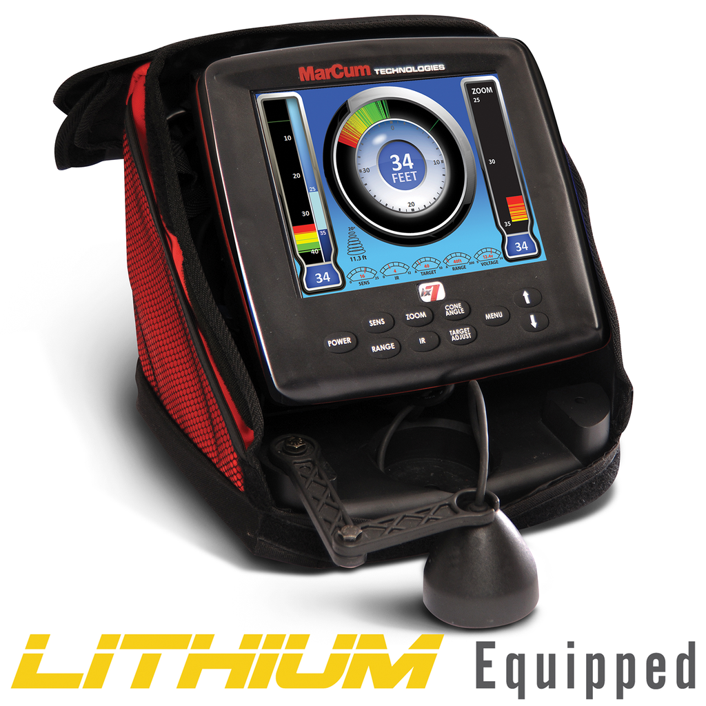 MarCum LX-7L Digital Sonar System With LiFePO4 12V10Ah Battery