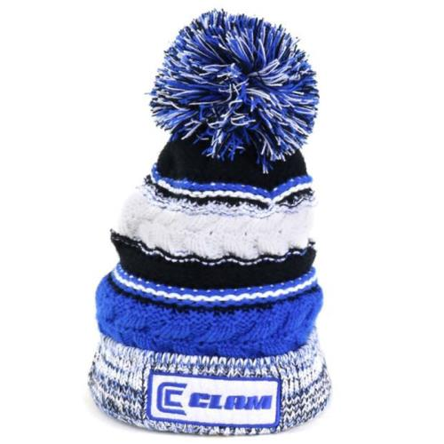 Clam Knit Pom Hats