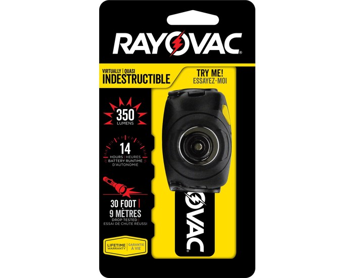 Rayovac Virtually Indestructable Head Lamp - 350 Lumens
