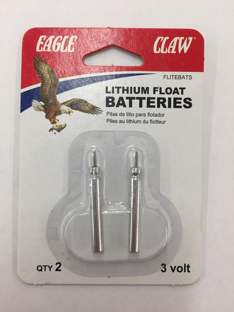 Eagle Claw Lithium Float Batteries 2PK
