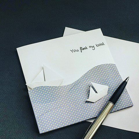 You float my Boat Handmade Greeting Card