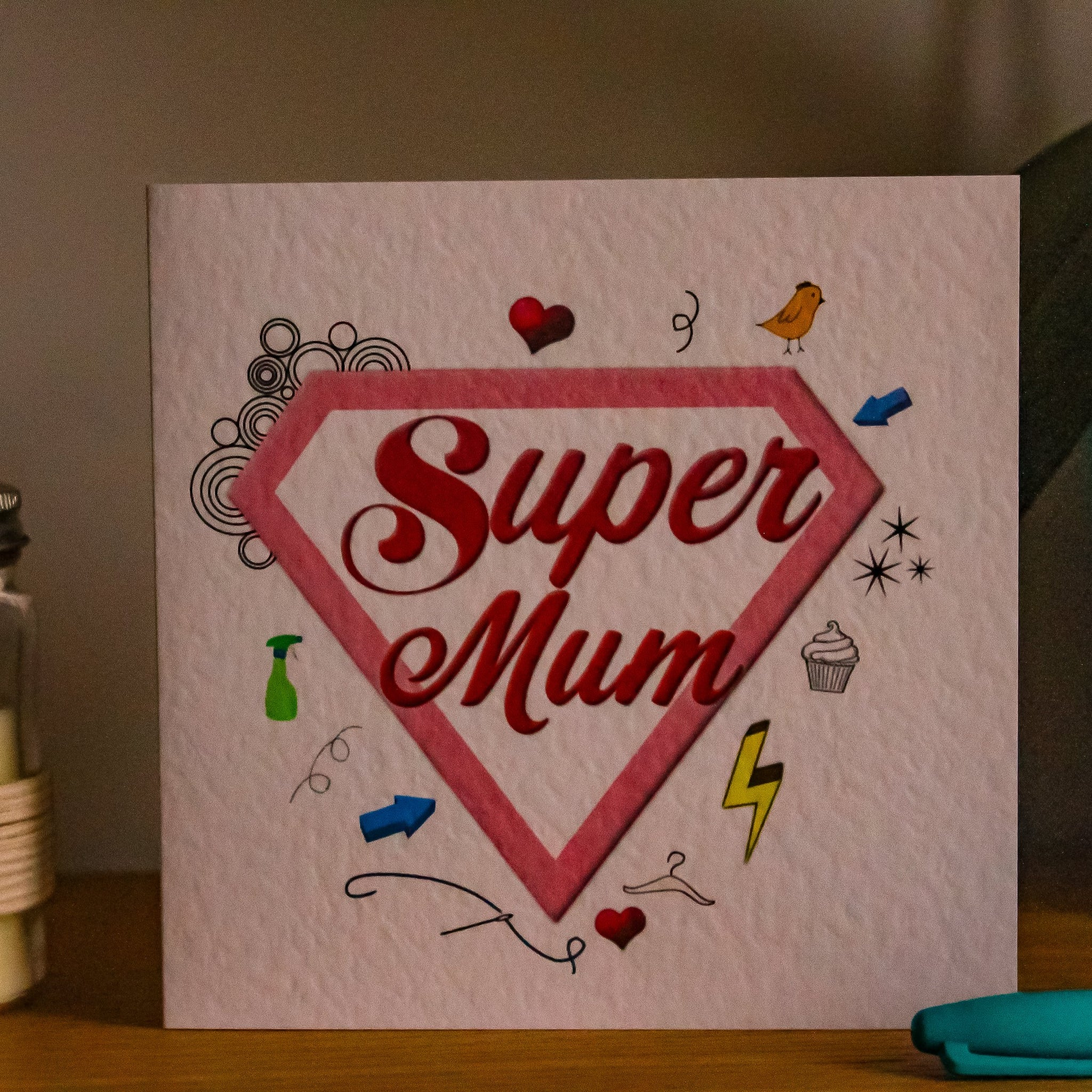 Super Mum Greeting Card - Mothers Day - fay-dixon-design