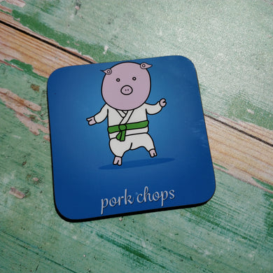 Pork Chops Illustrated Coaster