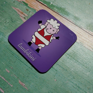 Lambikini Illustrated Coaster - fay-dixon-design