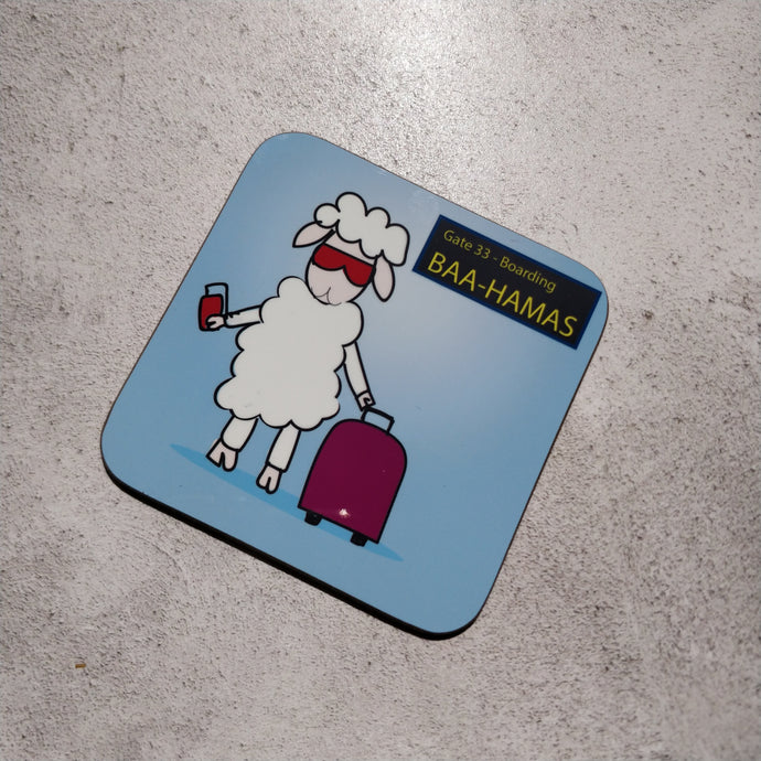 Baa-hamas Illustrated Coaster
