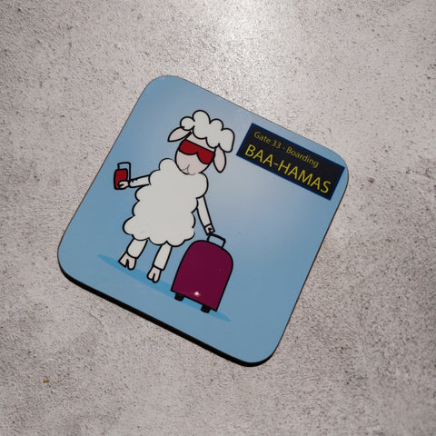 Baa-hamas Illustrated Coaster - fay-dixon-design