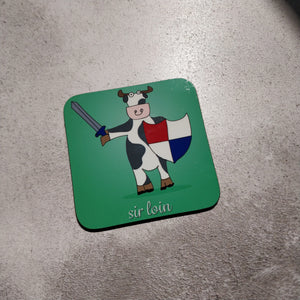 Sir Loin Illustrated Coaster - fay-dixon-design