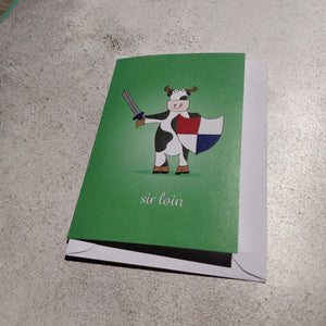 Sir Loin Greeting Card