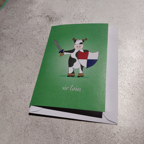 Sir Loin Greeting Card - fay-dixon-design