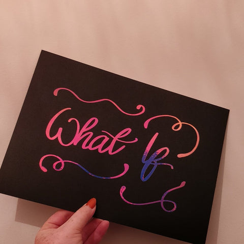 What If - A4 Black and Pink Print - fay-dixon-design