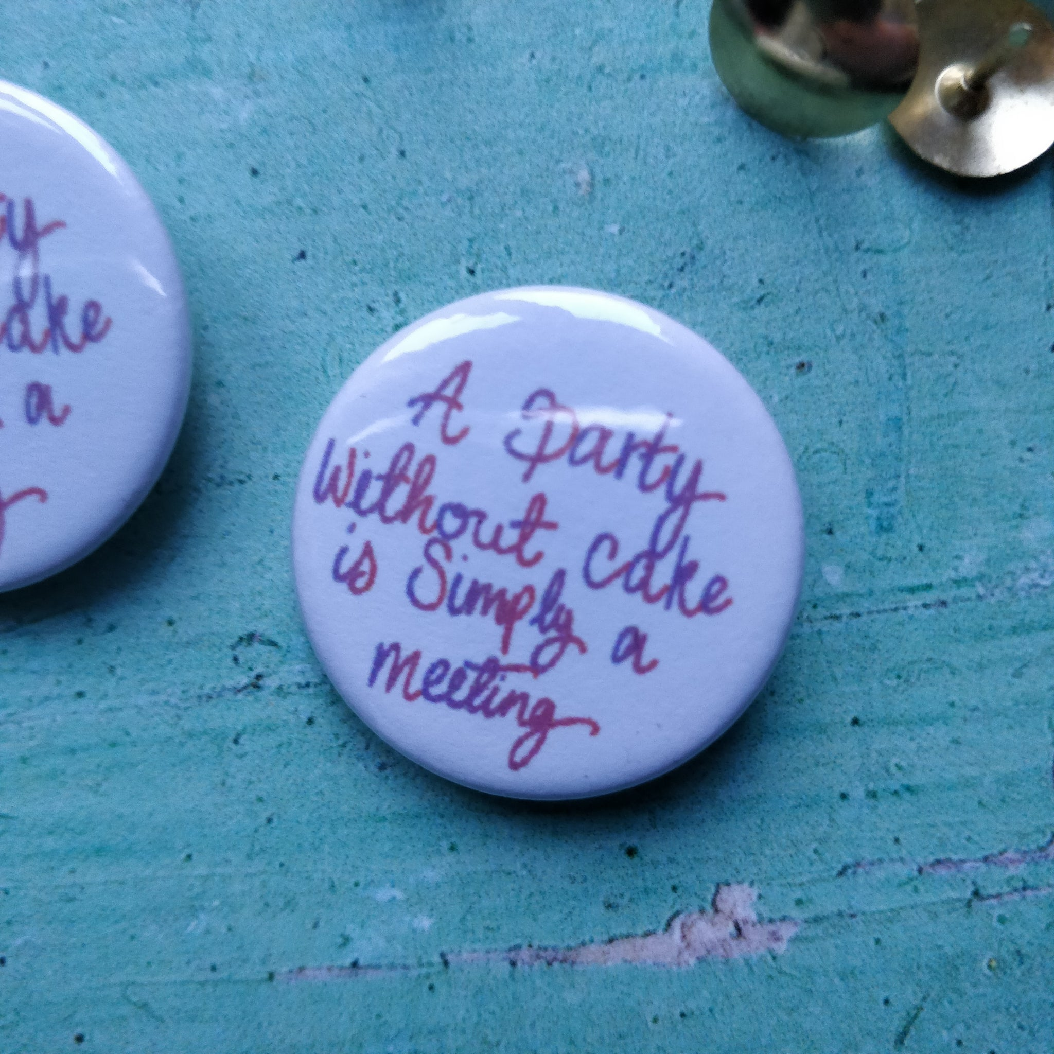 A party without cake... Badge - fay-dixon-design
