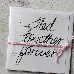 Tied Together Forever Printed Greeting Card - fay-dixon-design
