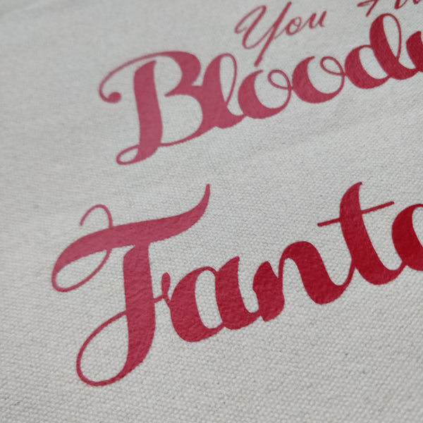 You Are Bloody Fantastic Cotton Pouch with Wrist Strap - fay-dixon-design