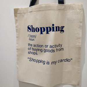 Shopping Definition Tote Bag - fay-dixon-design