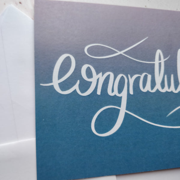 Congratulations Greeting Card - fay-dixon-design