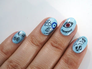 Eyes Waterslide Nail Decals