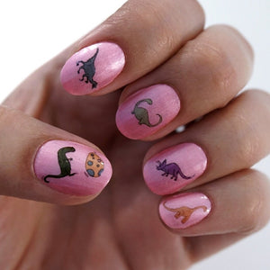 Dinosaur Waterslide Nail Decals