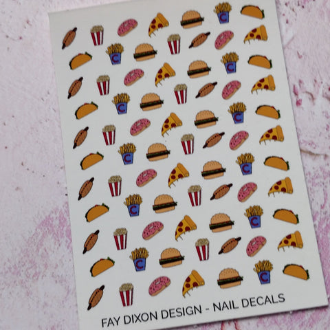 Fast Food Waterslide Nail Decals