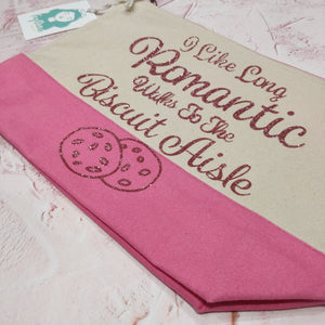 Romantic Walks to the Biscuit Aisle Cotton Pouch