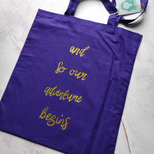 and so our adventure begins Tote Bag