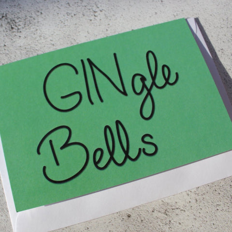 'GINgle Bells' Christmas Card - fay-dixon-design